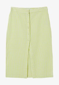 Bershka - A-line skirt - yellow - 4