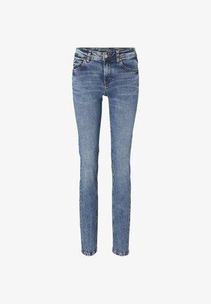 ALEXA - Straight leg jeans - random bleached  blue denim