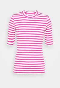 Selected Femme - SLFANNA CREW NECK TEE - Print T-shirt - rose/violet - 3