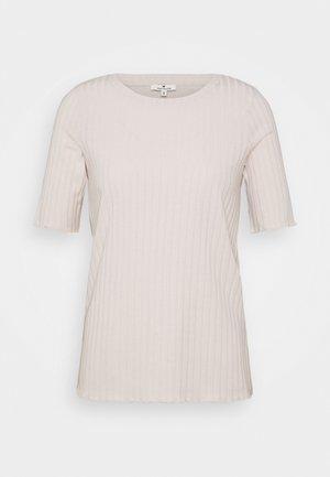 Print T-shirt - desert sand melange