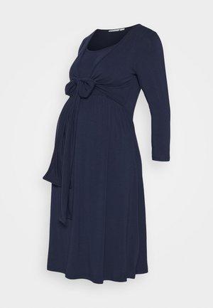 MATERNITY NURSING WRAP TIE DRESS - Jersey dress - midnight