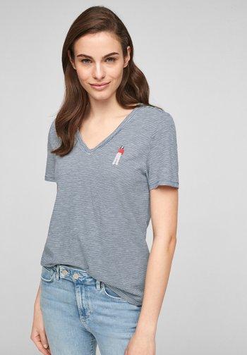 MIT PRINT-DETAIL - Print T-shirt - blue stripes