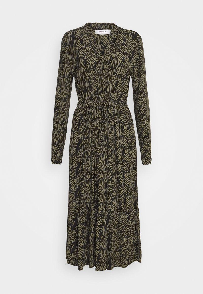 Moss Copenhagen - CALIE MOROCCO DRESS - Košilové šaty - sage