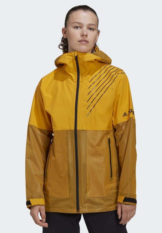 THREE-LAYER ZUPAHIKE RAIN.RDY - Outdoorjas - yellow