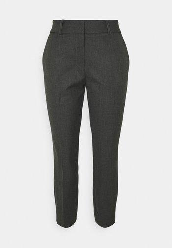 SLFRIA CROPPED PANT PETITE - Kangashousut - dark grey melange
