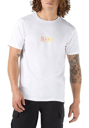 MN CLASSIC EASY BOX - T-shirt z nadrukiem - white/buttercup