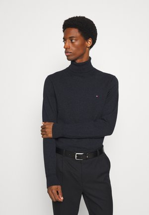 PIMA ROLL NECK - Jumper - black heather