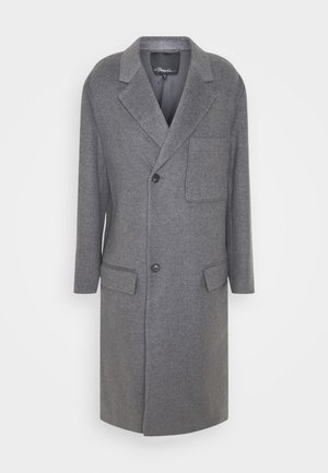 EXTENDED LAPEL COAT - Villakangastakki - charcoal gray