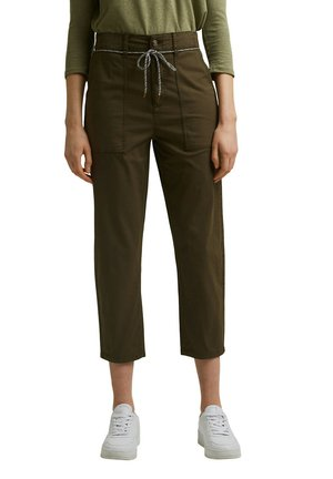 UTILITY-HOSE MIT GÜRTEL, PIMA-BAUMWOLLE - Trousers - khaki green
