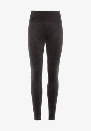 CORA VELVET LEGGING - Leggings - Trousers - grey