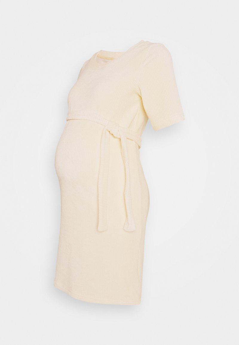 MAMALICIOUS - MLETTA SHORT DRESS - Vestido ligero - parchment