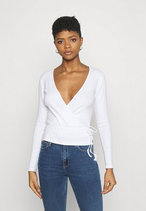 ENALLY - Long sleeved top - white