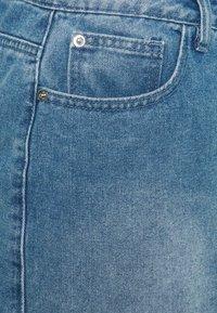 Missguided Plus - SUPER DISTRESS SKIRT - Minigonna - blue - 2