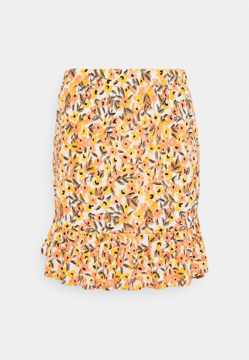Vila - VIMIE  - Mini skirt - cloud dancer/orange