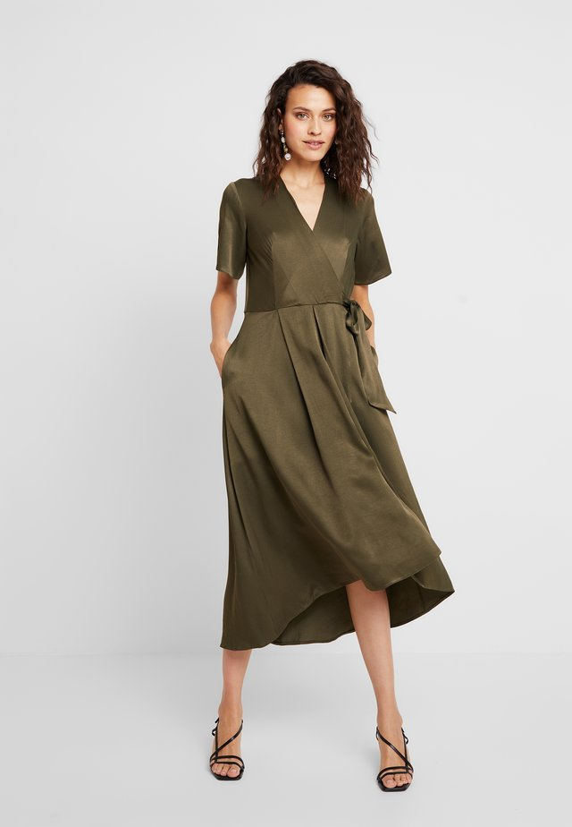 CLOSET PLEATED WRAP DRESS - Maxikjole - khaki