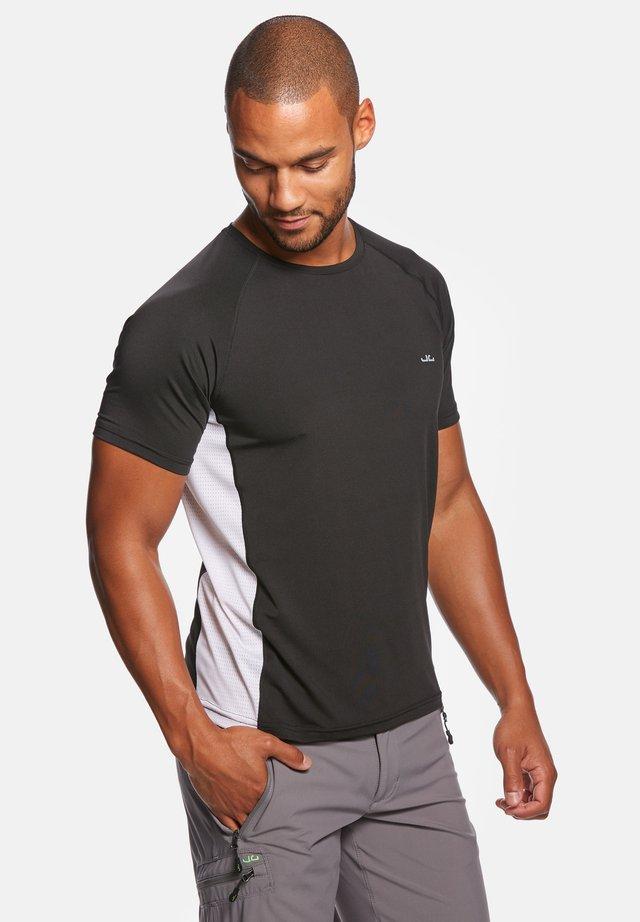 RIVARA - T-shirt print - black/white
