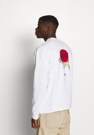 BRON ROSE CREW - Sweatshirt - white