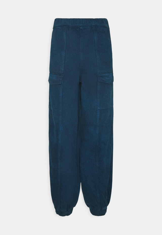 LADIES TROUSERS - Pantalon classique - blue tie dye