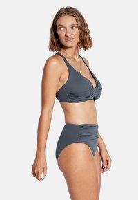 Seafolly - HIGH WAIST WRAP FRONT PANT - Bikini bottoms - granite - 3