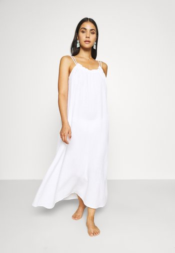ART HOUSE SOLEIL DOUBLE CLOTH DRESS - Beach accessory - white