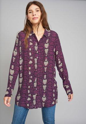 MIT MODISCHEM ALLOVER-PRINT - Button-down blouse - purple pattern