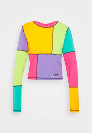 COLOURBLOCK LONGSLEEVE RINGER TOP - Long sleeved top - multi