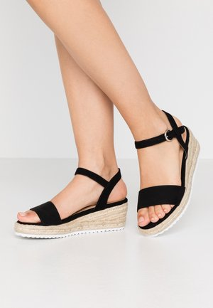 WIDE FIT OREGON - Espadrilles - black