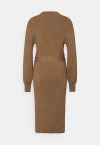 Moss Copenhagen - MALLORY LIKE DRESS - Pletené šaty - dark brown - 1