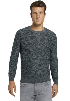 Jumper - green by navy white structure