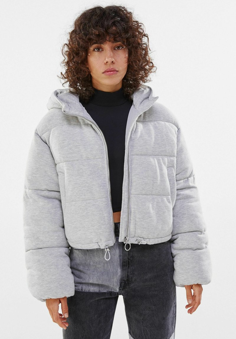 Bershka - Winter jacket - light grey