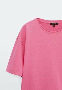 Massimo Dutti - T-shirt basic - neon pink - 5