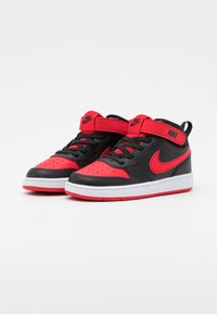 Nike Sportswear - COURT BOROUGH MID UNISEX - Sneakers alte - black/university red/white - 1