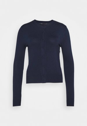 CREW CARDI PLAIN - Cardigan - dark blue