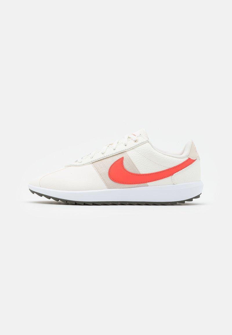 Nike Golf - CORTEZ - Golf shoes - sail/magic ember/light orewood brown/white