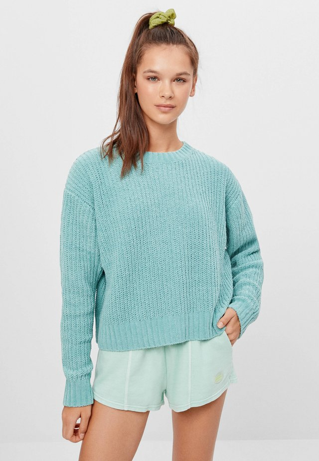 AUS CHENILLE  - Jumper - turquoise