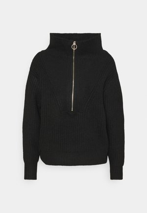 YASMARILYN ZIP - Jumper - black