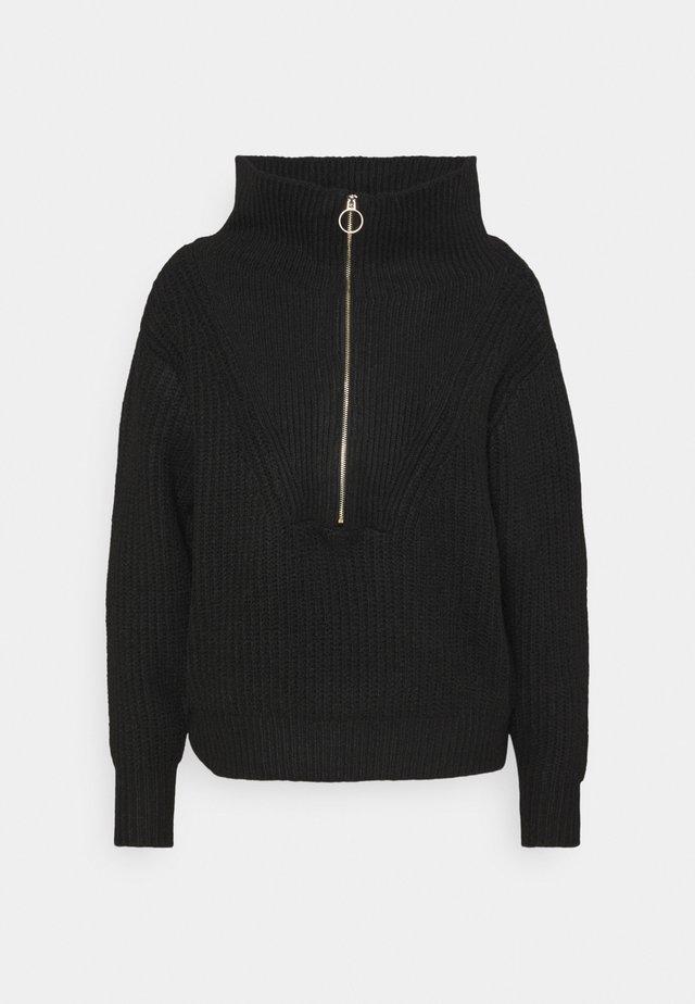 YASMARILYN ZIP - Jersey de punto - black