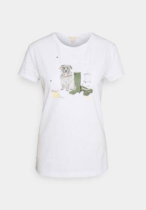 ROWEN TEE - T-shirt z nadrukiem - white