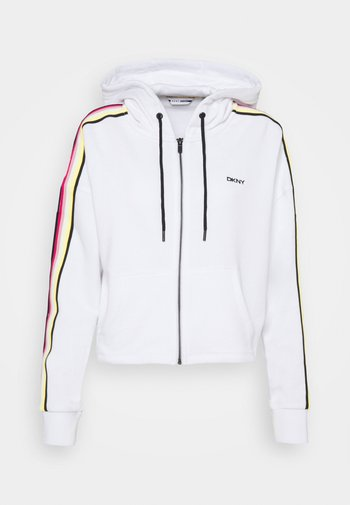 CROPPED ZIP HOODIE - Zip-up sweatshirt - white