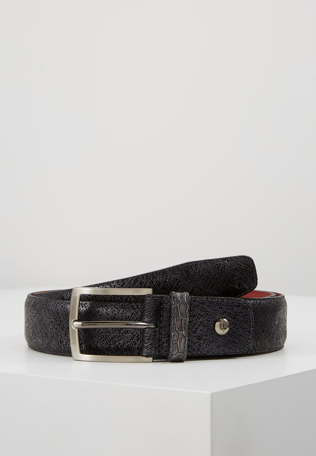 DRESS BELT - Ceinture - black metalic