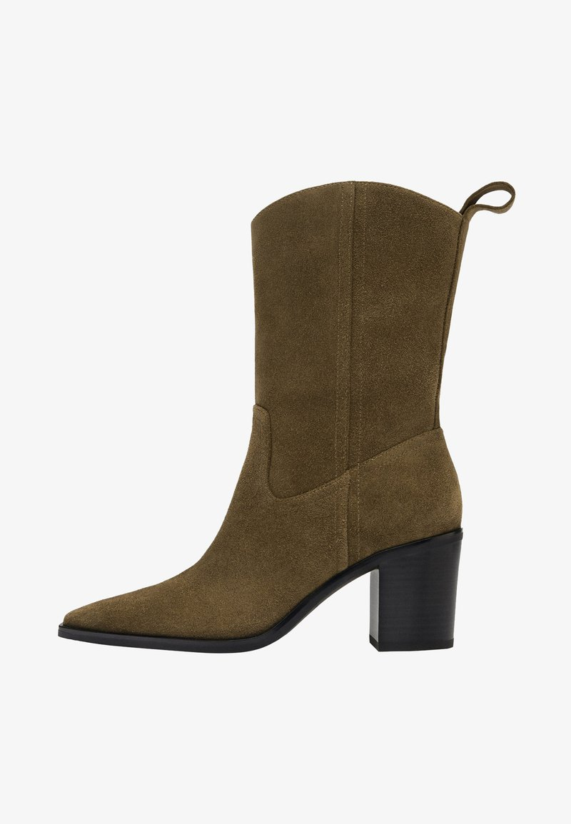 Uterqüe - High heeled ankle boots - brown