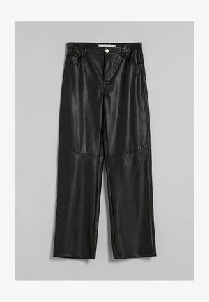 STRAIGHT FIT - Spodnie materiałowe - black