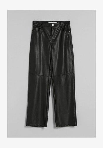 STRAIGHT FIT - Pantaloni - black