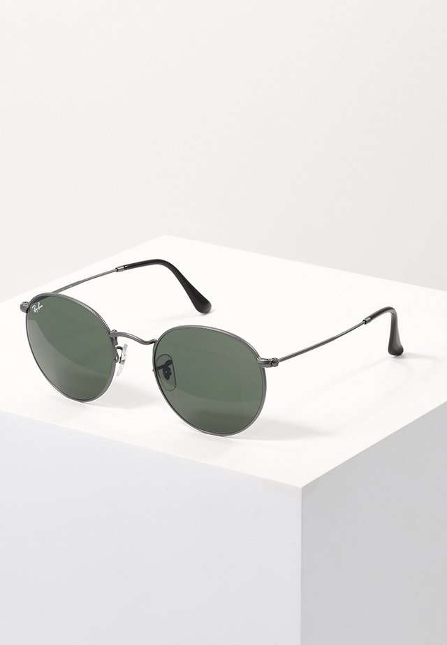 ROUND METAL - Sunglasses - gunmetal/crystal green