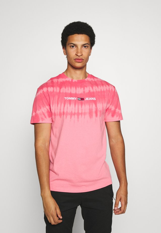 TIE DYE TEE - T-shirt con stampa - rosey pink