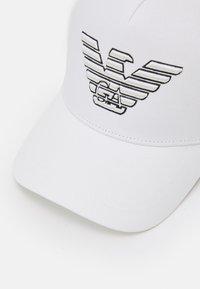 Emporio Armani - BASEBALL HAT UNISEX - Cappellino - white - 4