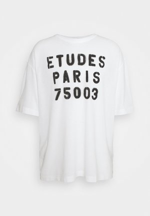MUSEUM STENCIL UNISEX - Print T-shirt - white