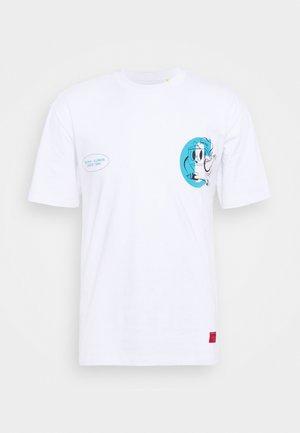 VINTAGE PRINT TEE - T-shirt print - white