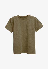 Next - CREW NECK T-SHIRT (3-16YRS) - Basic T-shirt - khaki - 0