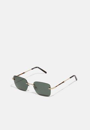 UNISEX - Sunglasses - shiny gold-coloured/olive green